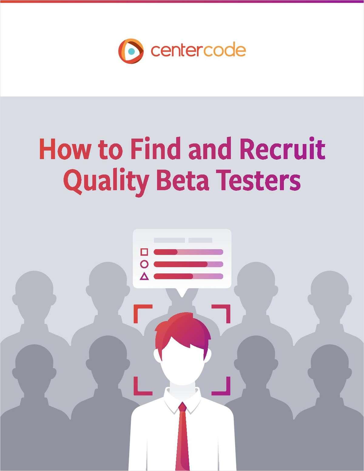 Beta Tester Recruitment Kit
