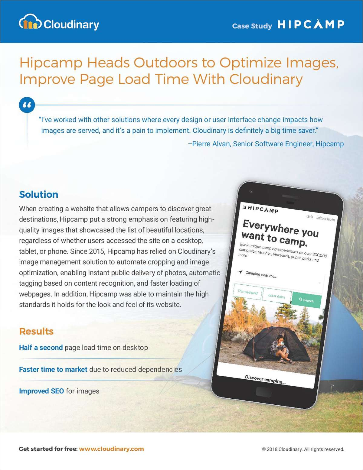 Hipcamp Heads Outdoors to Optimize Images, Improve Page Load Time with Cloudinary