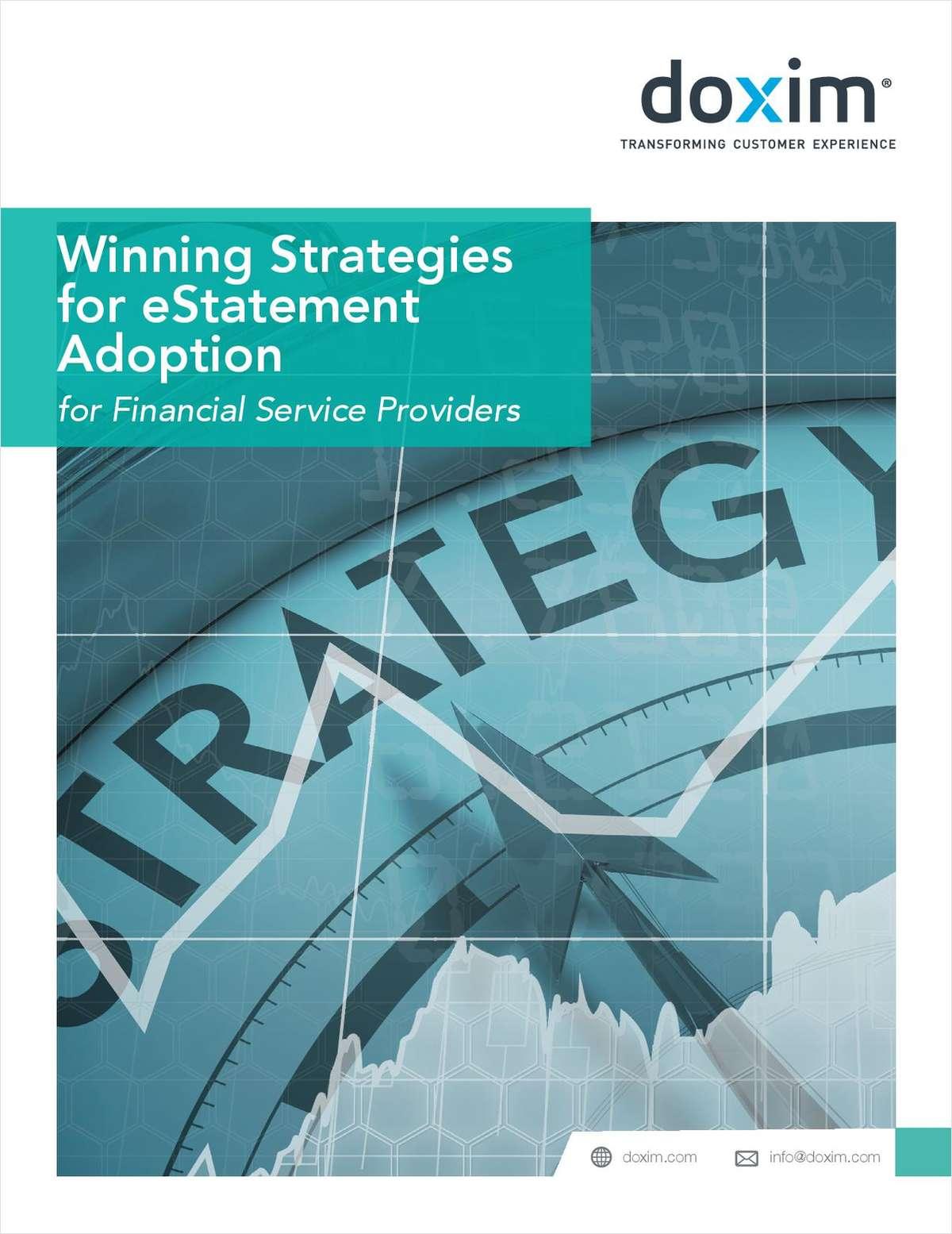Winning Strategies for E-Statement Adoption