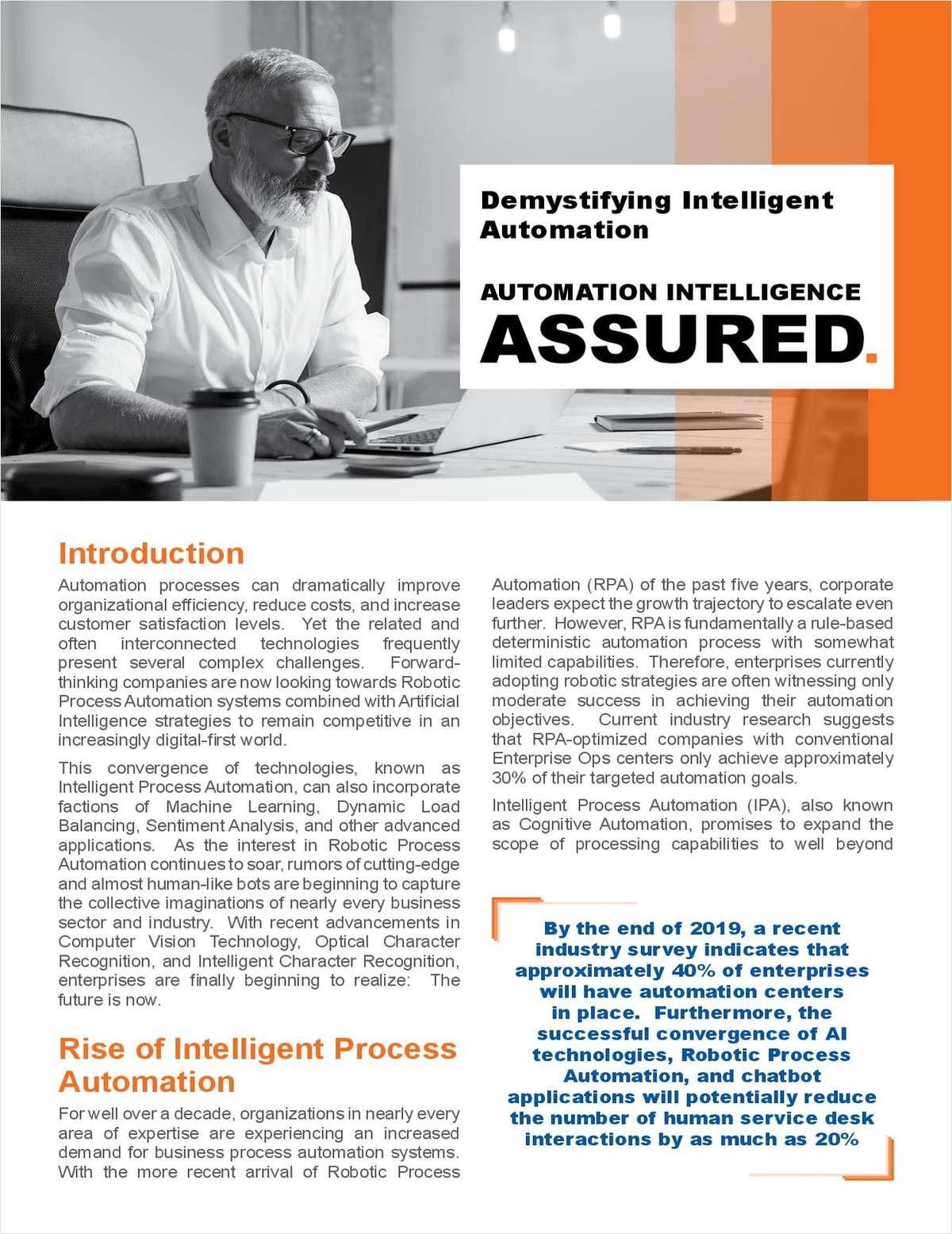 Demystifying Intelligent Automation