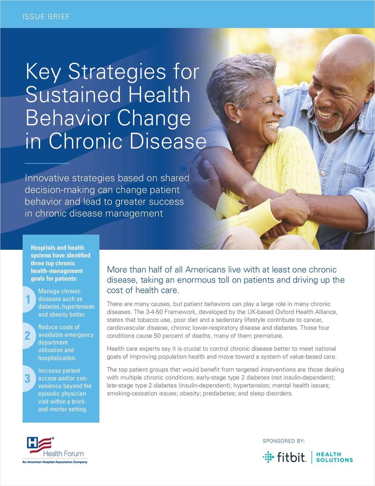 Key Strategies for Sustained Health Behavior Change in Chronic Disease