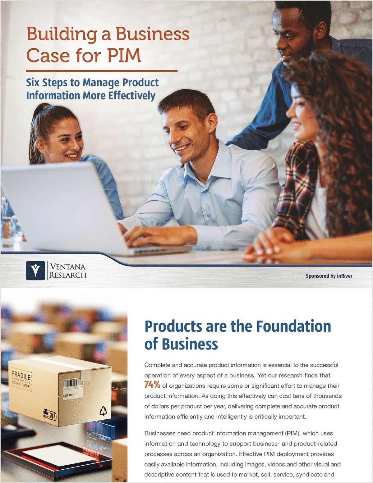 Building a Business Case for PIM