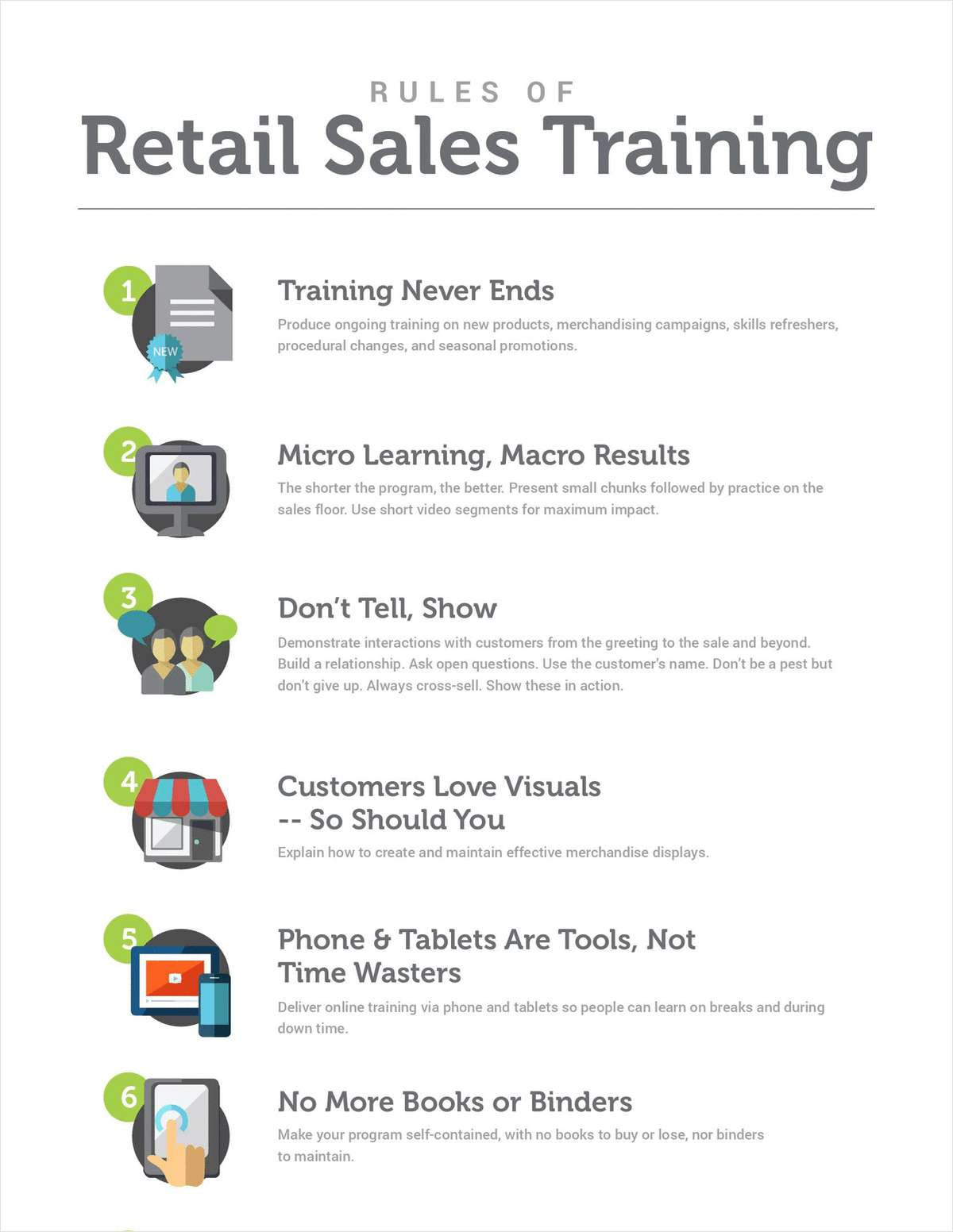 Rules of Retail Sales Training