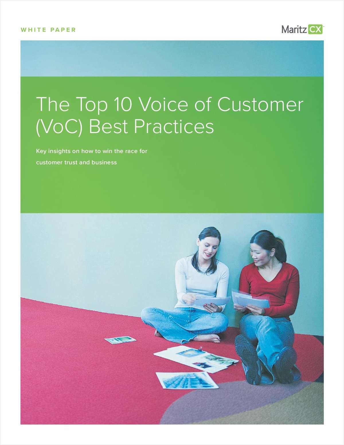 The Top 10 Voice of Customer (VoC) Best Practices