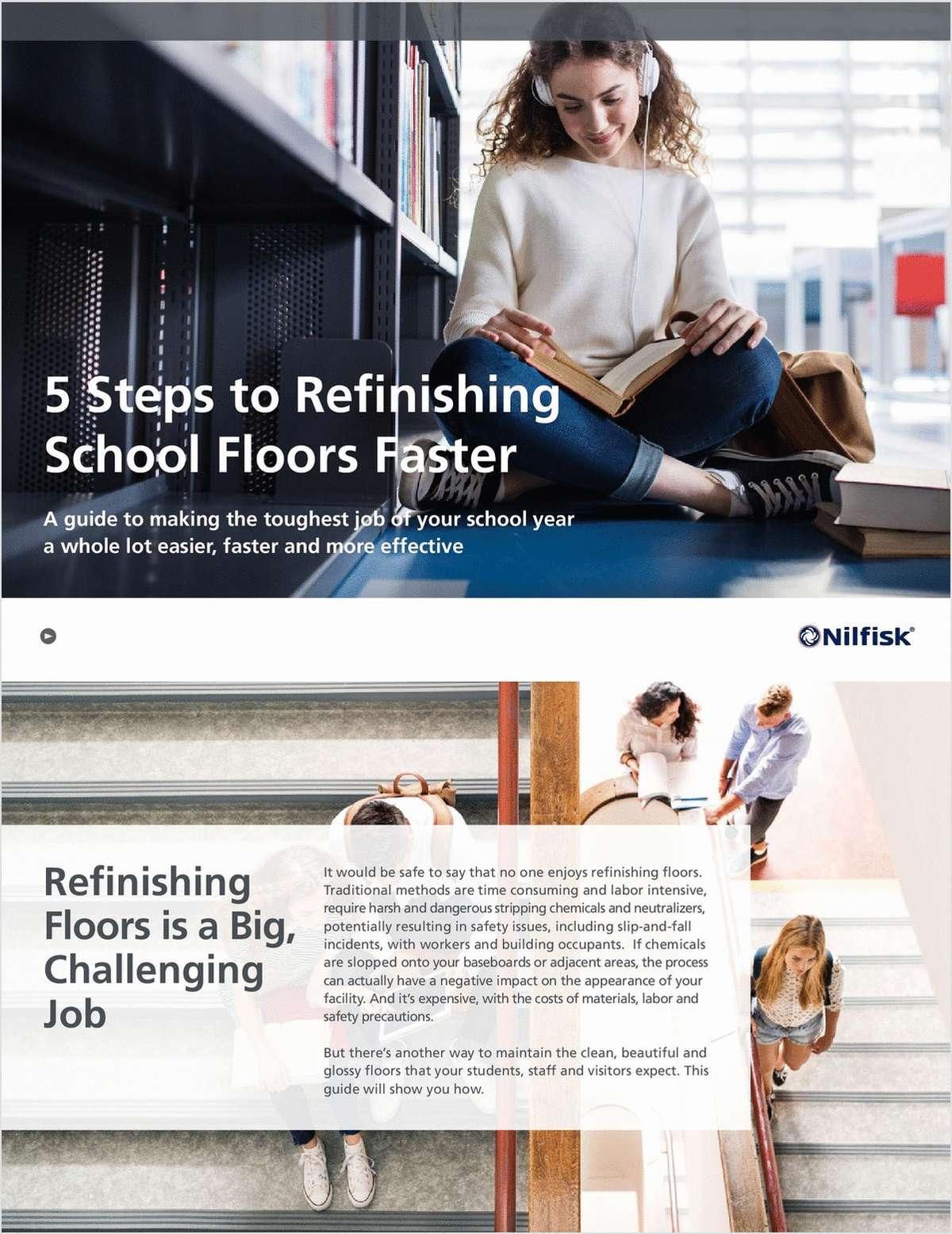 5 Steps to Refinishing School Floors Faster