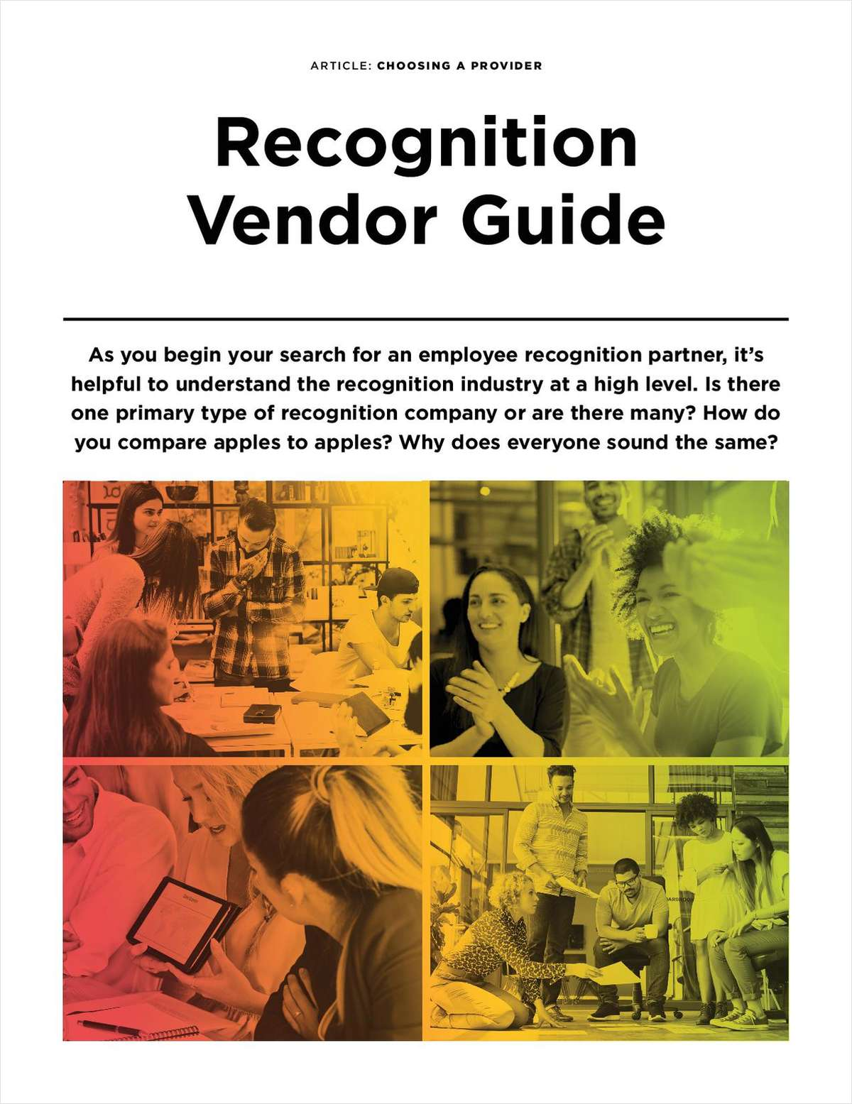 Recognition Vendor Guide
