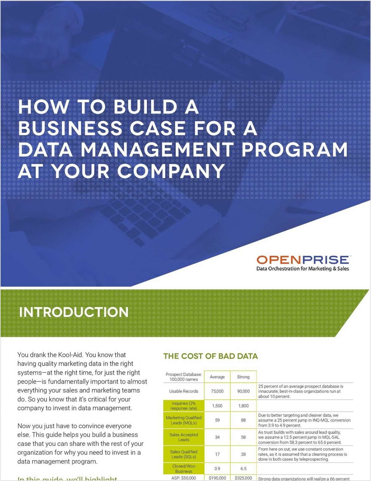 How to Build a Business Case for a Data Management Program at Your Company
