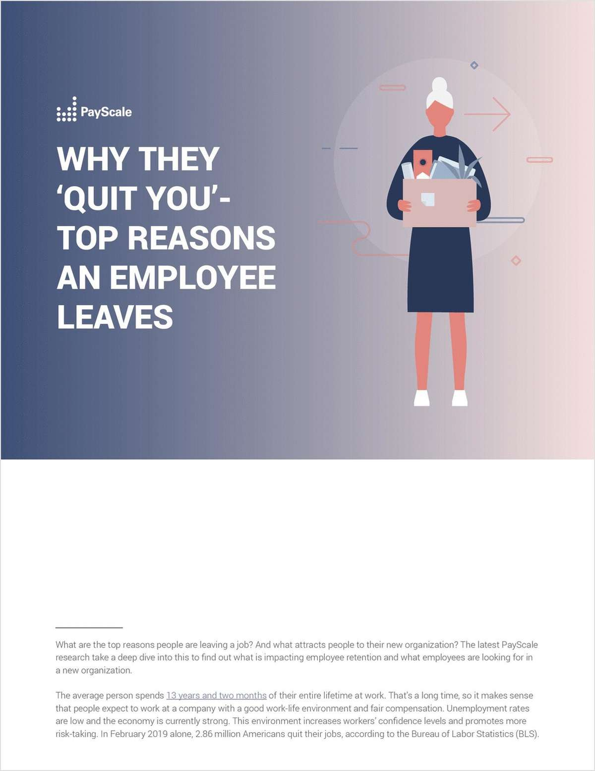 Why They 'Quit You' Top Reasons an Employee Leaves