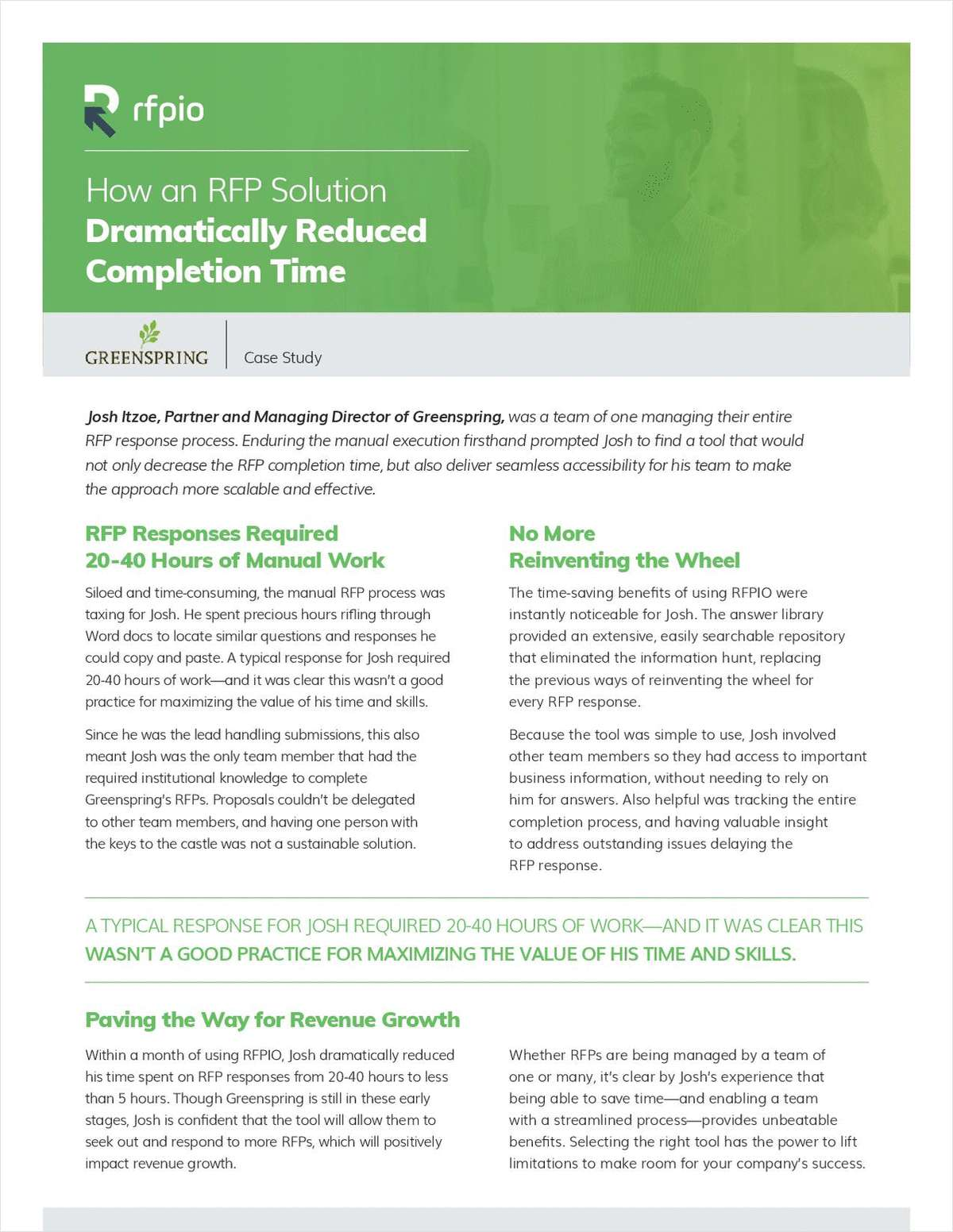 How RFP Software Dramatically Reduced Response Completion Time