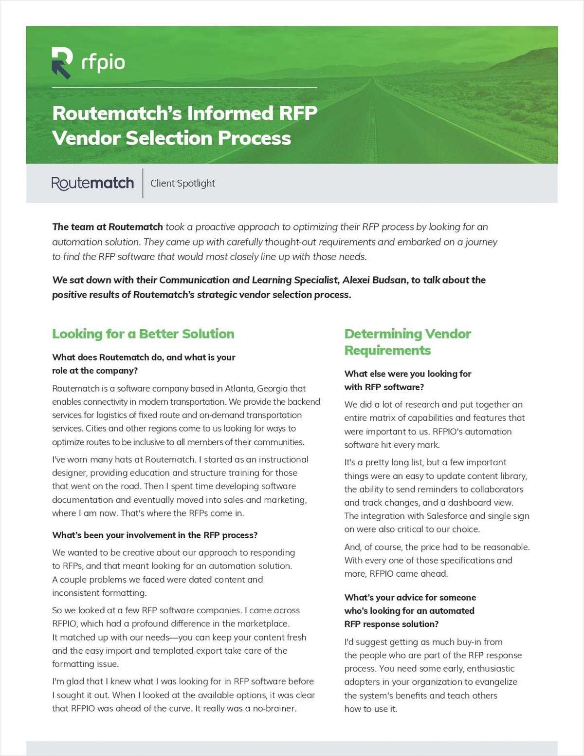 An Informed RFP Software Vendor Selection Process