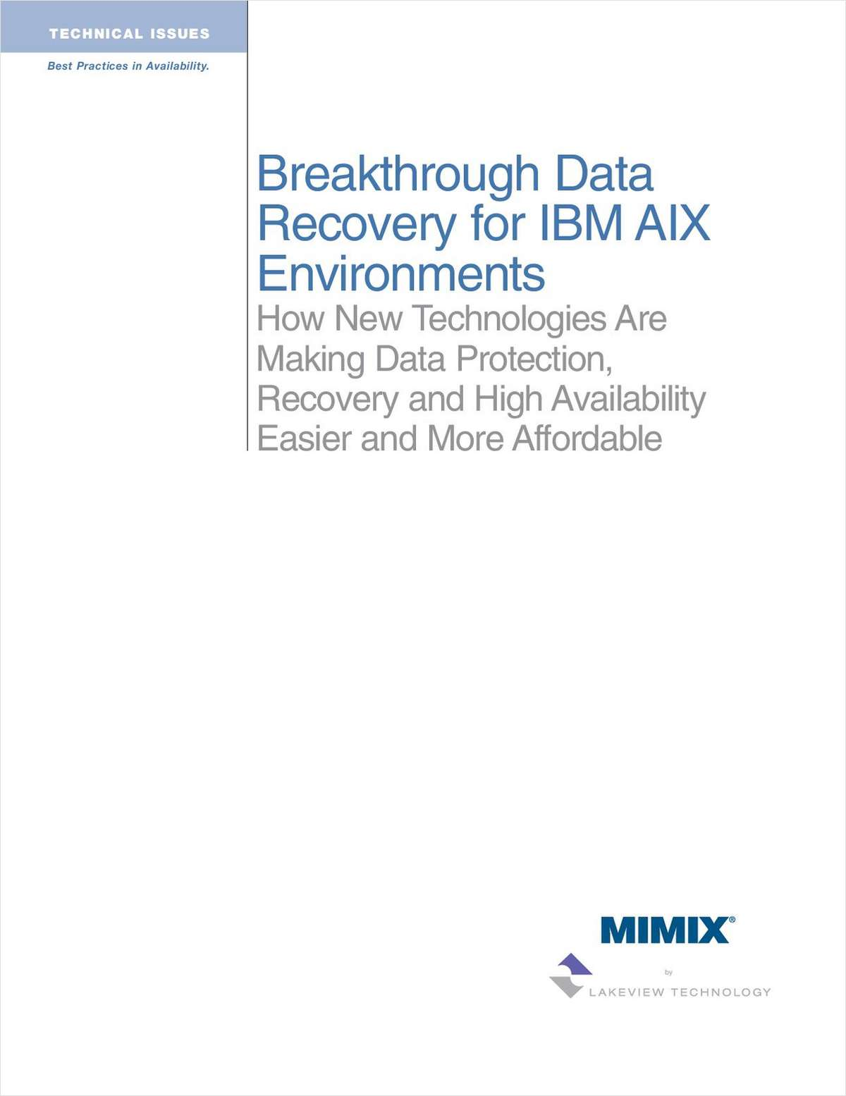 Breakthrough Data Recovery for IBM AIX Environments