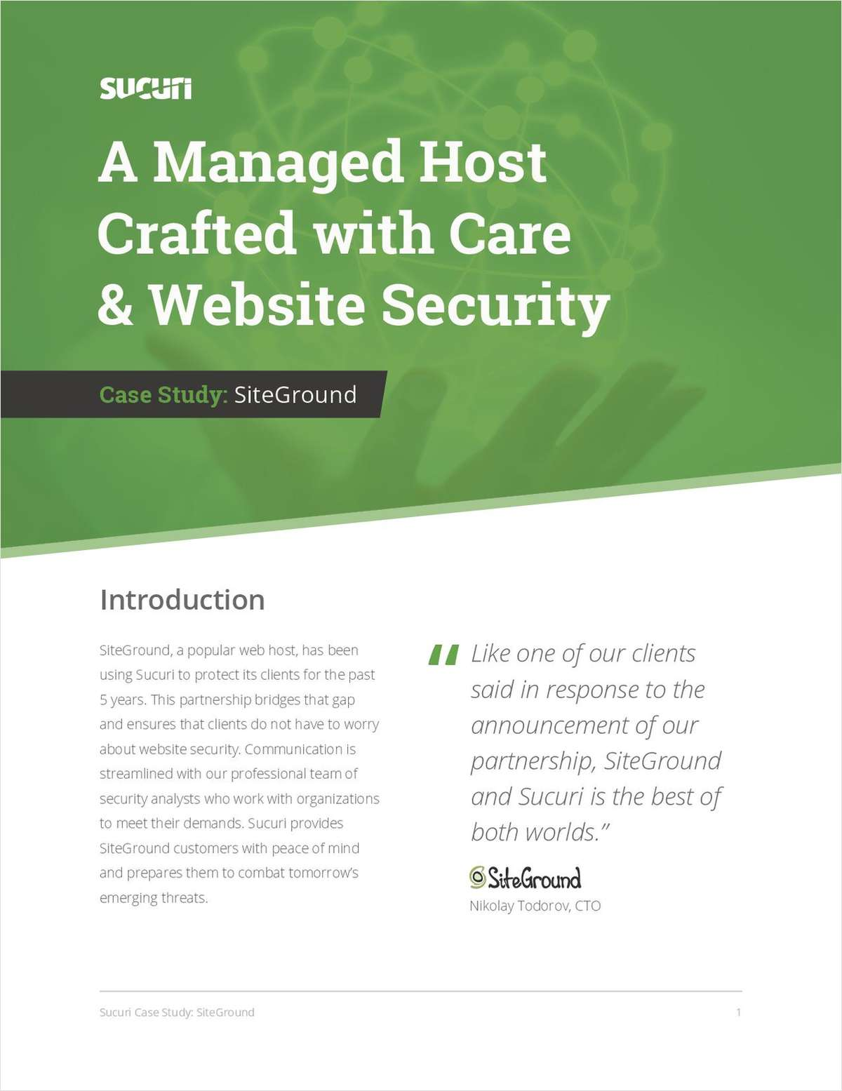 SiteGround: Website Security Case Study