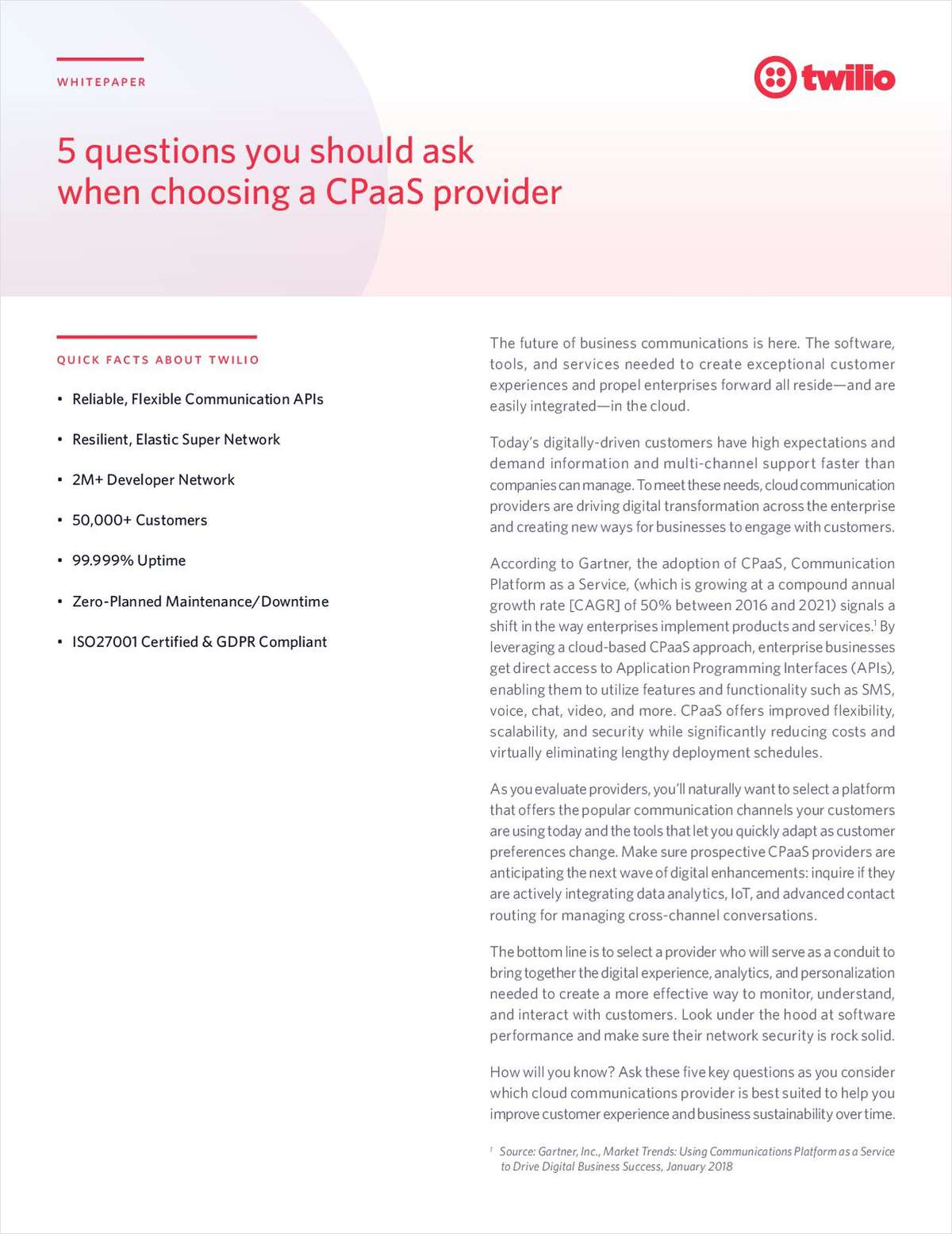 Top 5 Questions You Should Be Asking Your CPaaS Provider
