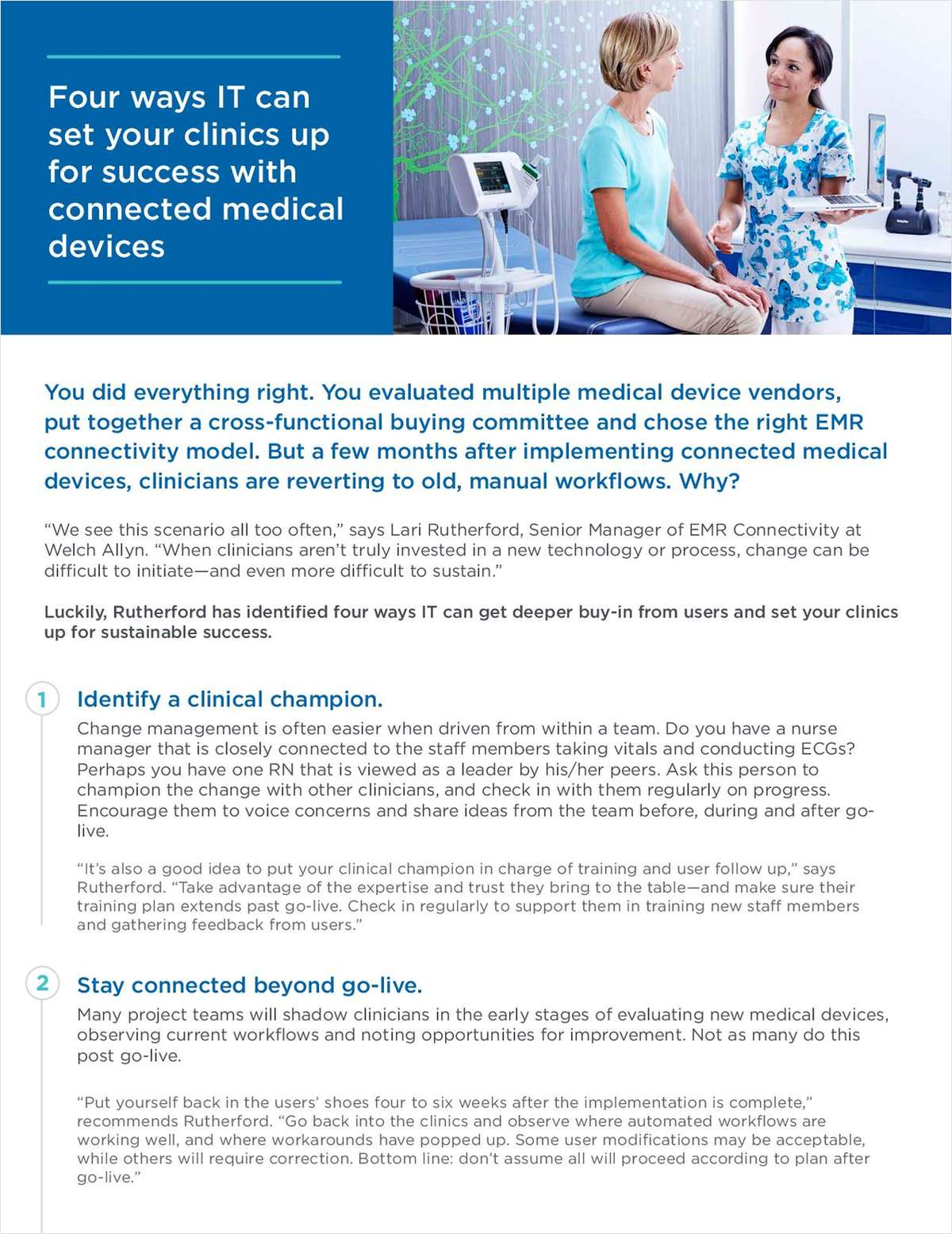 4 Ways IT Can Set Clinics Up for Success with Connected Medical Devices