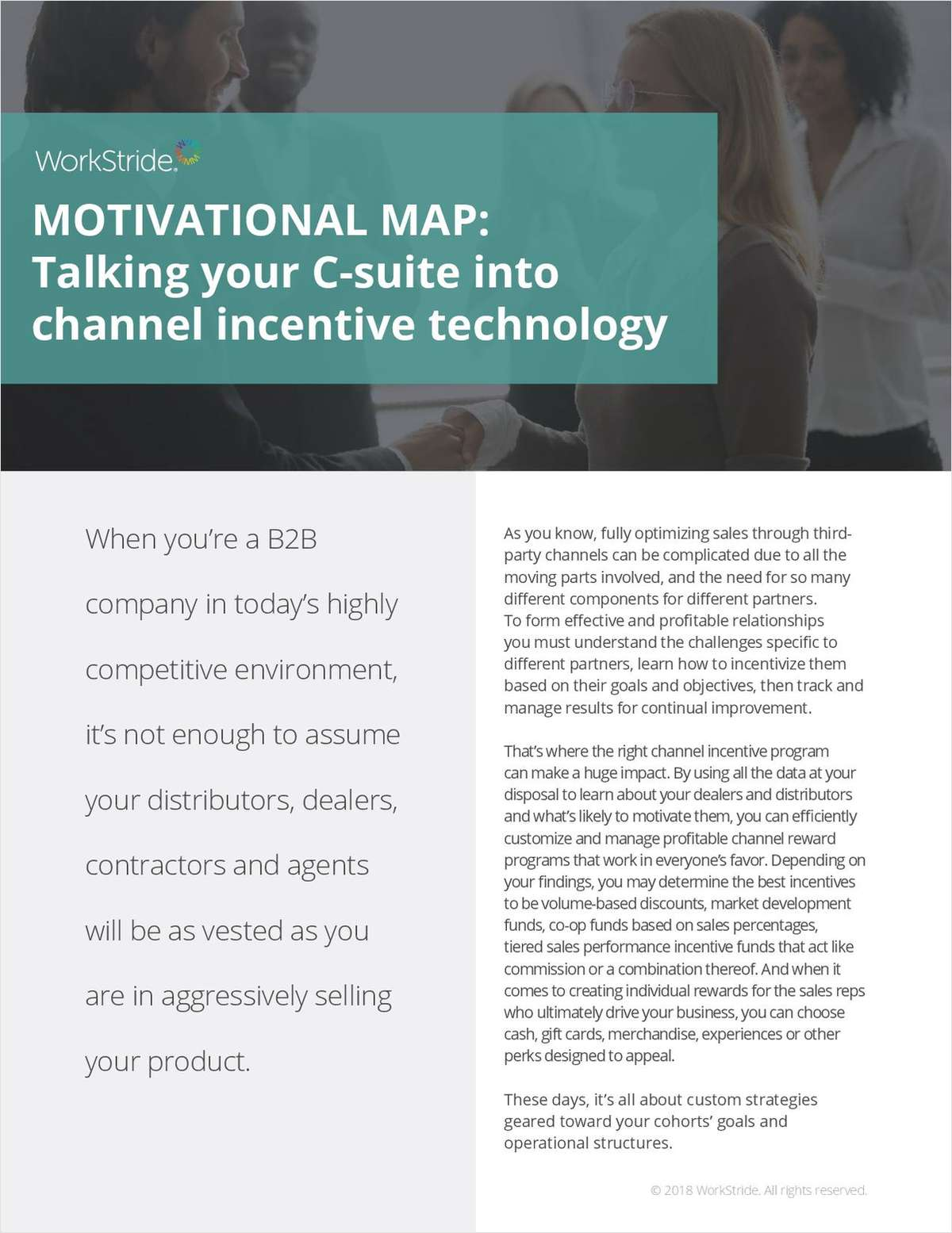 Motivational Map: Talking your C-suite into Channel Incentive Technology