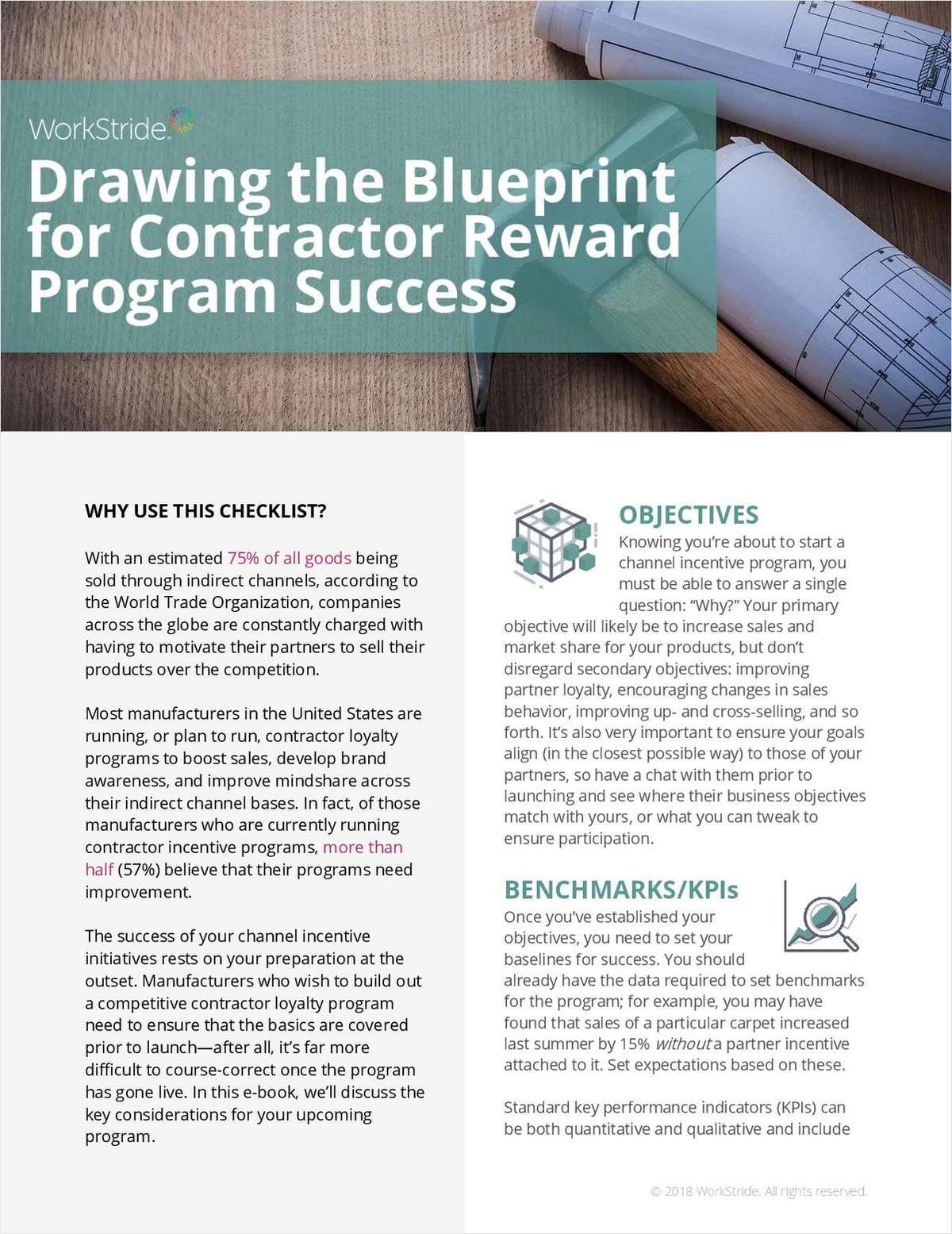 Drawing the Blueprint for Contractor Reward Program Success