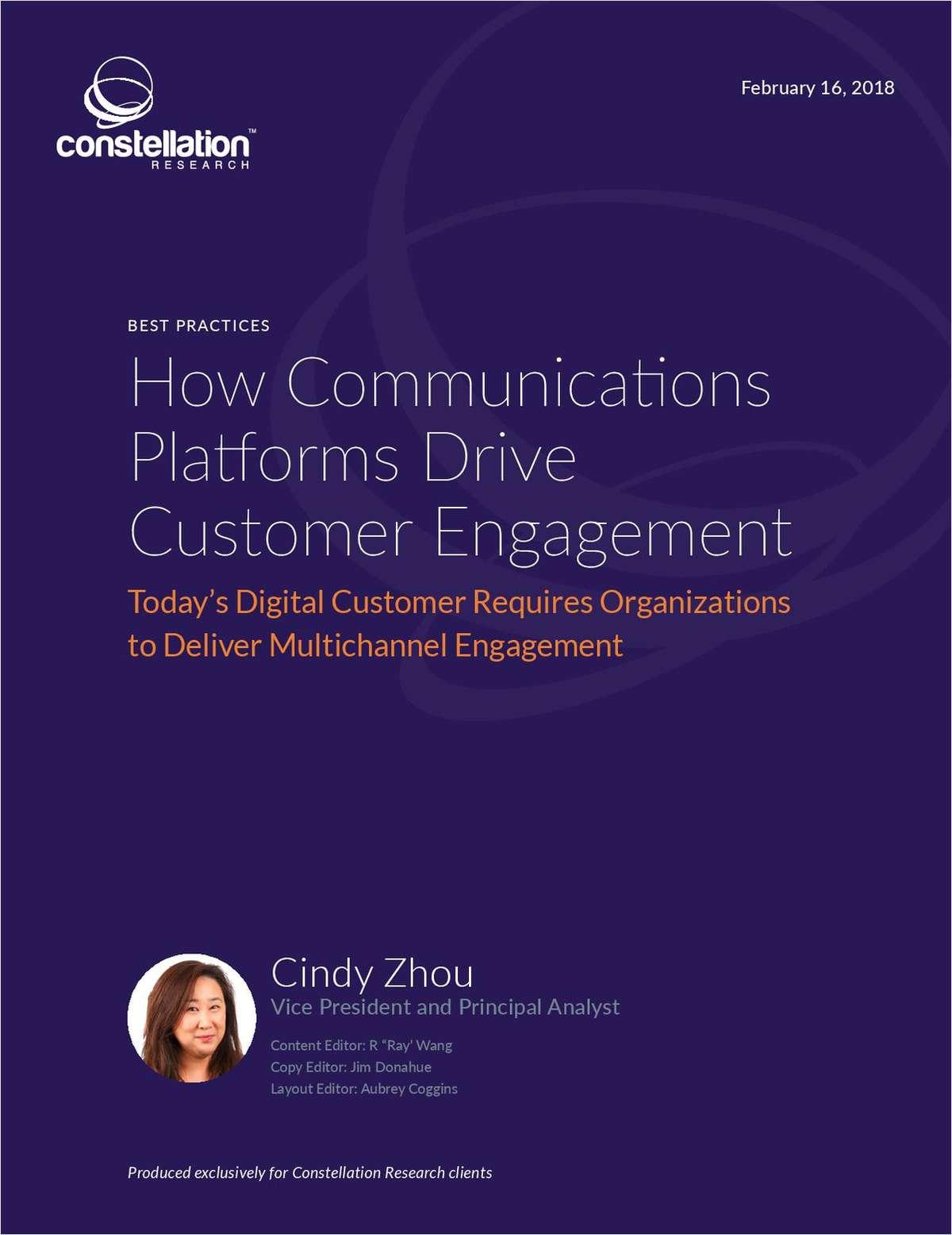 How Communications Platforms Drive Customer Engagement