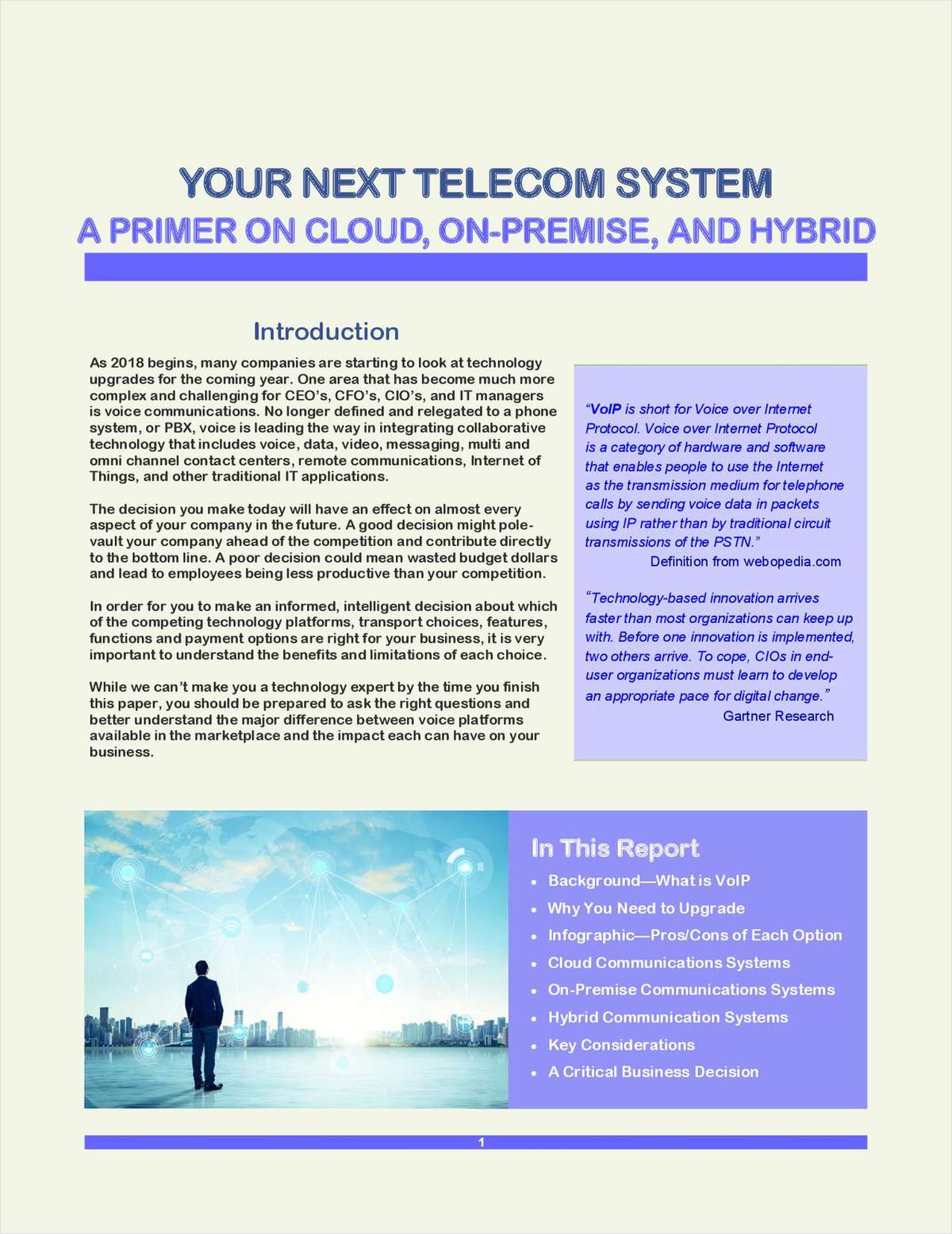YOUR NEXT TELEPHONE SYSTEM