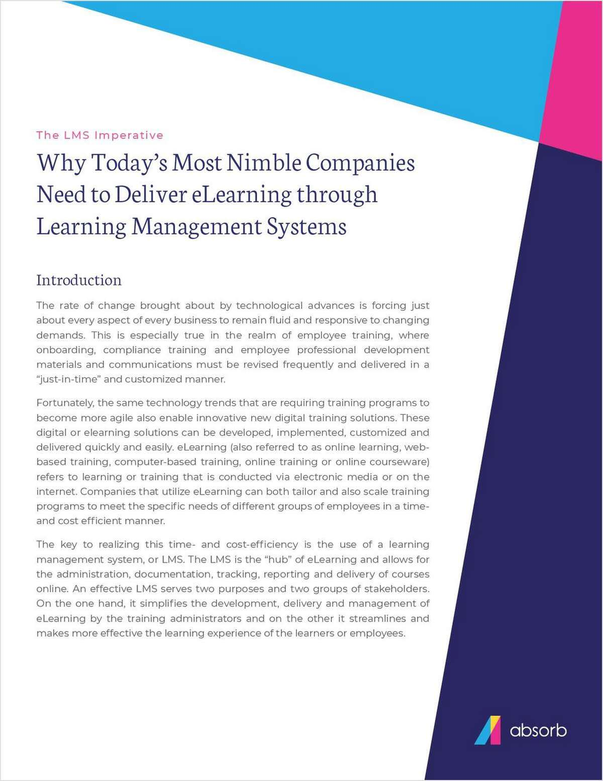 Why Nimble Companies Need to Deliver eLearning Through an LMS