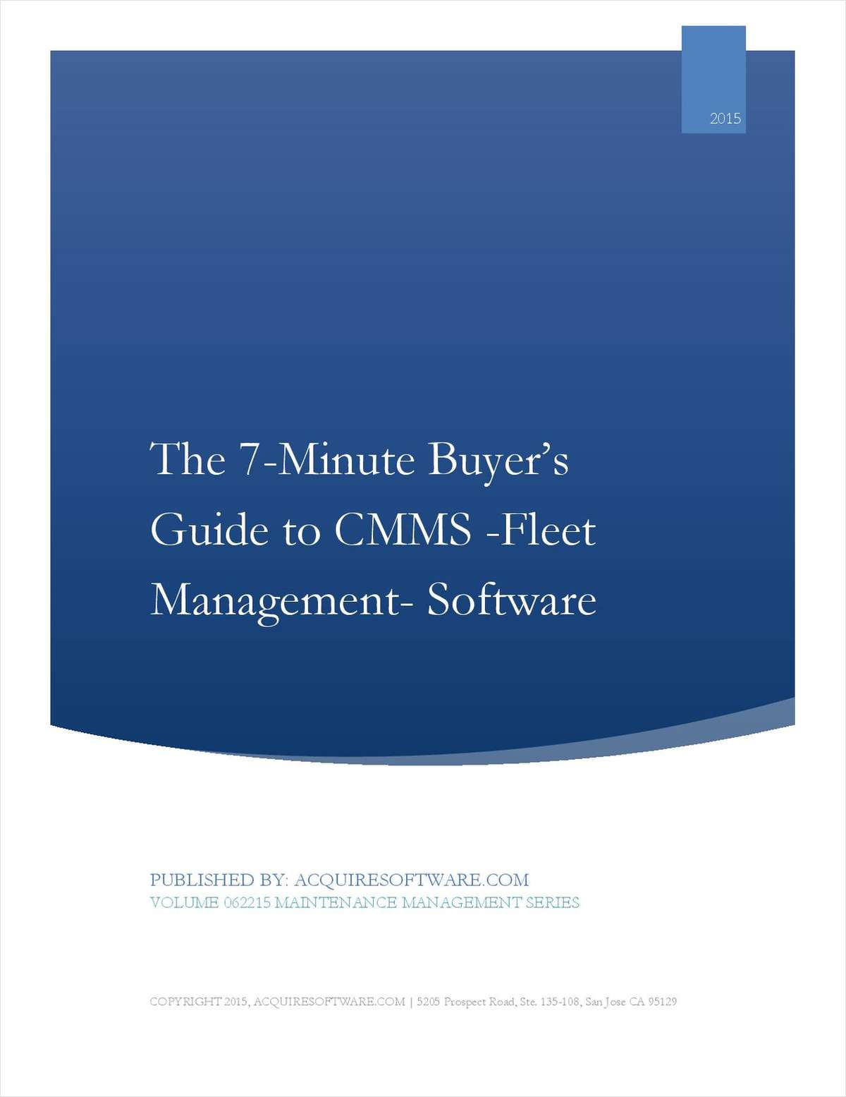 The 7-Minute Buyer's Guide to Fleet Management CMMS Solutions