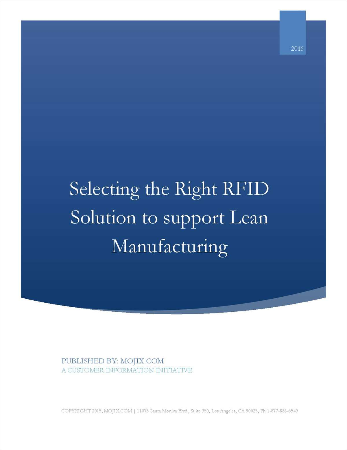 7 Minute Guide: Selecting the right RFID solution to support Lean Manufacturing