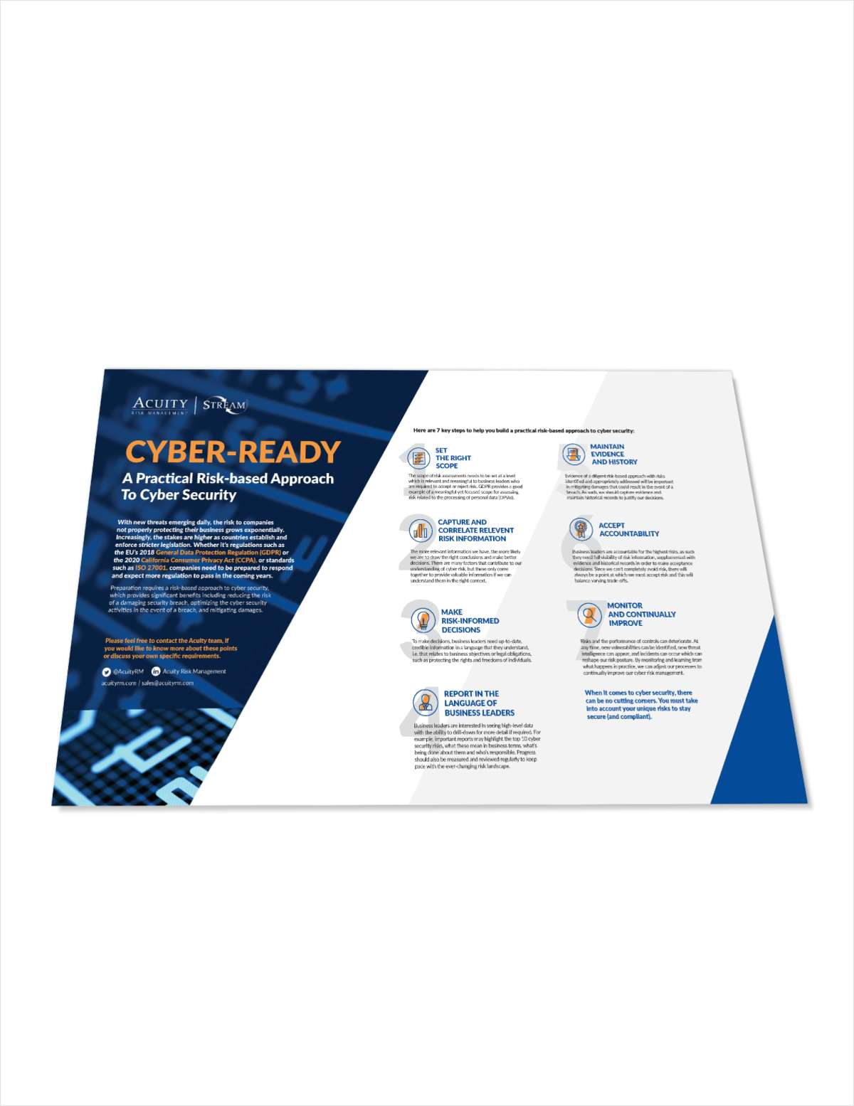 Cyber-Ready: 7 Steps to a Risk Based Approach