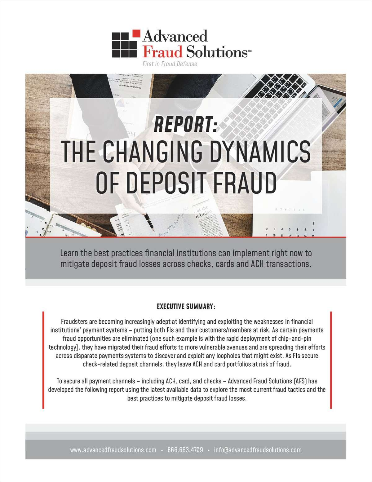 The Changing Dynamics of Deposit Fraud