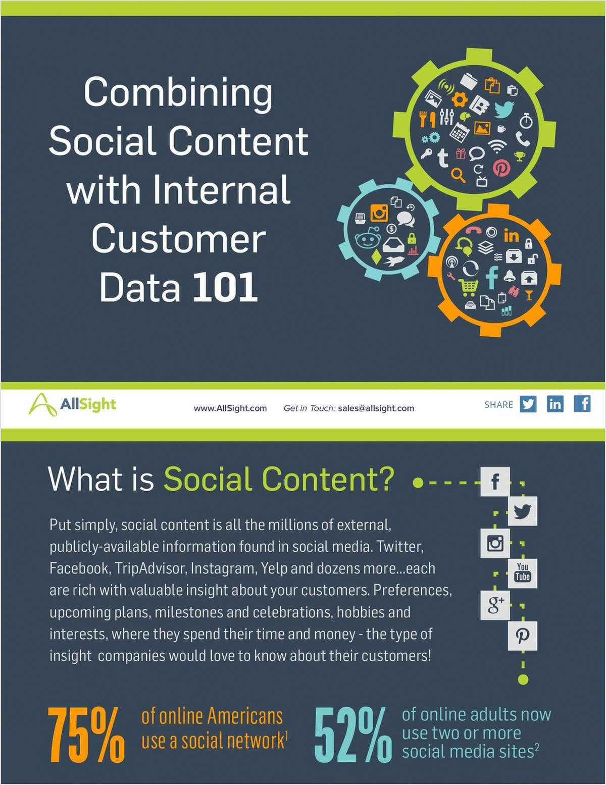 Combining Social Content with Internal Customer Data 101