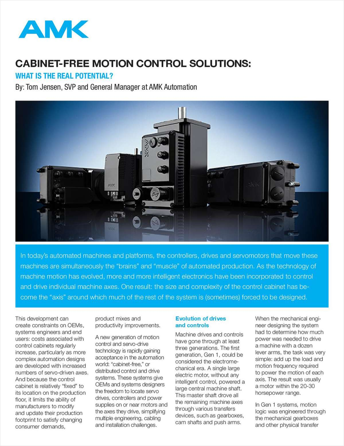 Cabinet-Free Motion Control Solutions: What Is The Real Potential?
