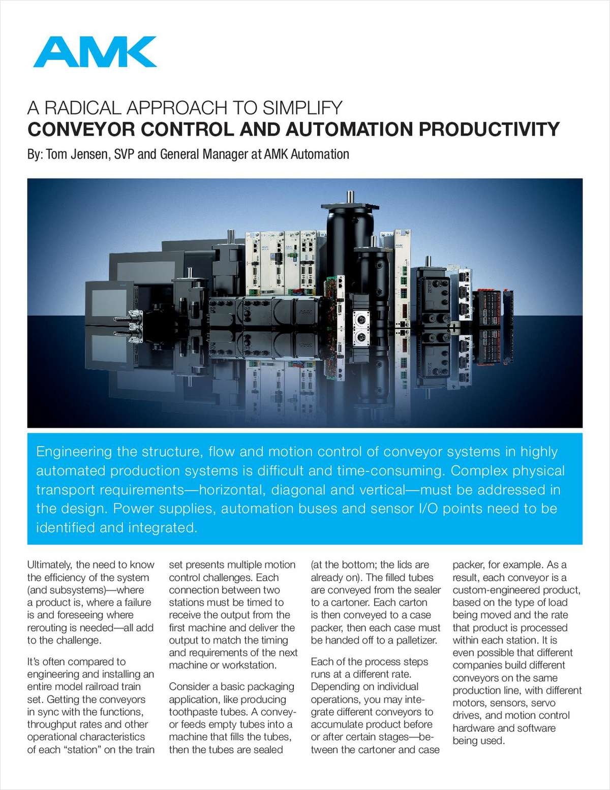 A Radical Approach to Simplify Conveyor Control and Automation Productivity