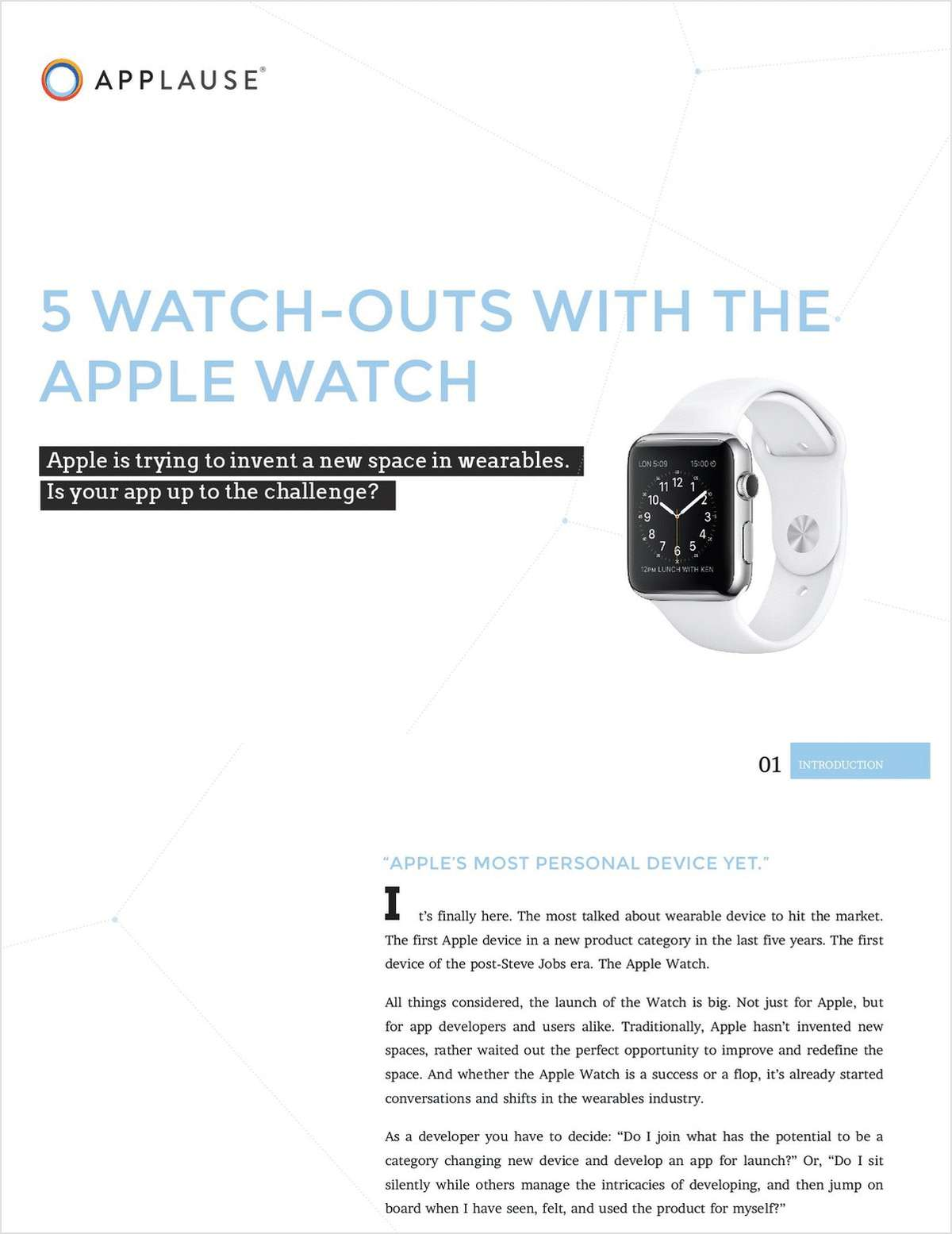5 Watch Outs With the Apple Watch
