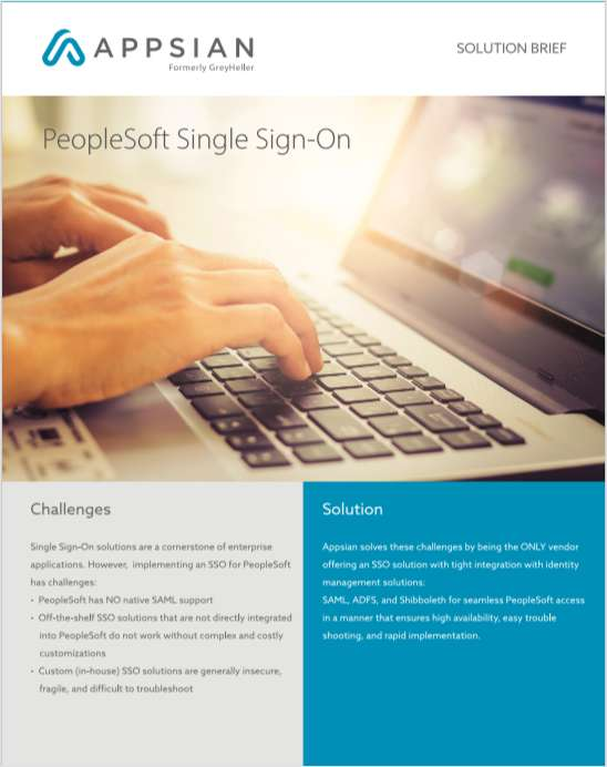 PeopleSoft Single Sign-On