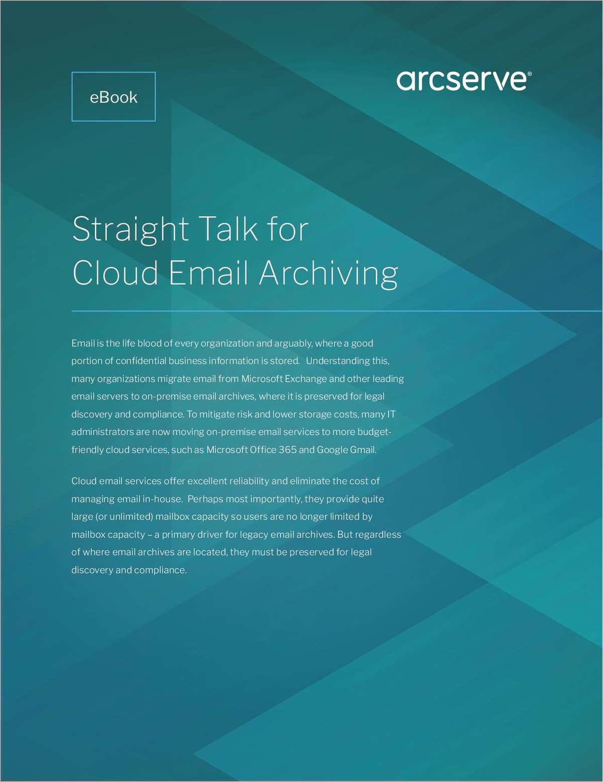 Straight Talk for Cloud Email Archiving