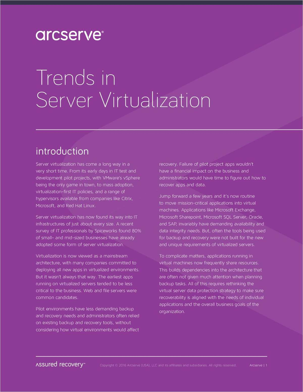 Trends in Server Virtualization
