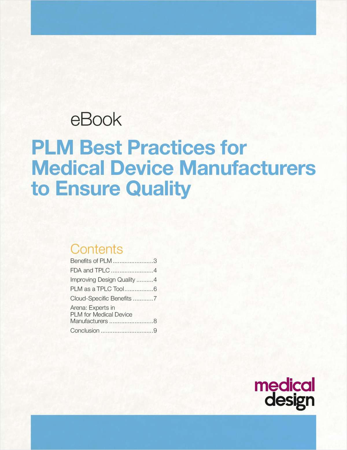 eBook: PLM Best Practices for Medical Device Manufacturers to Ensure Quality