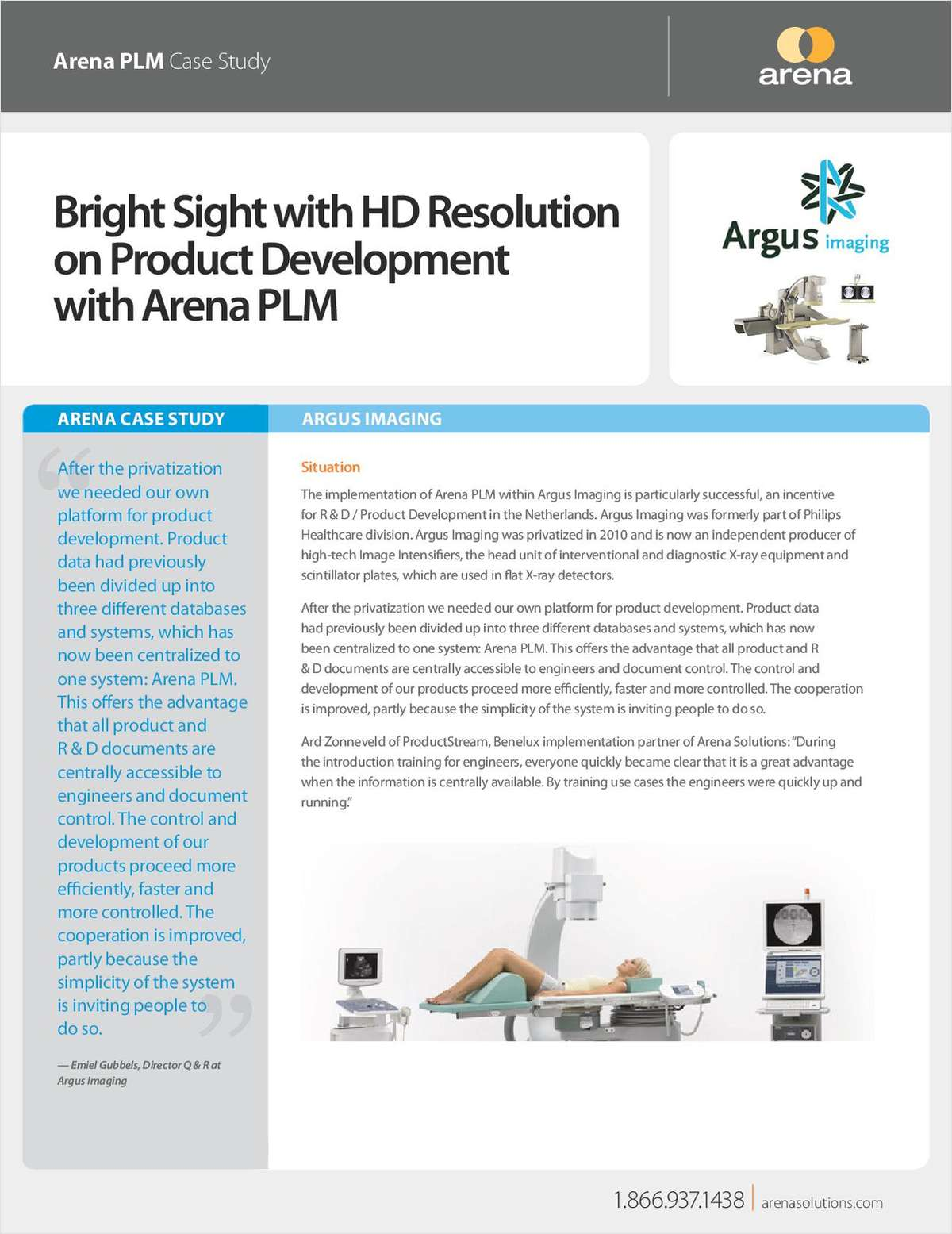 Diagnostic Manufacturer Delivers Great Products Using Arena PLM