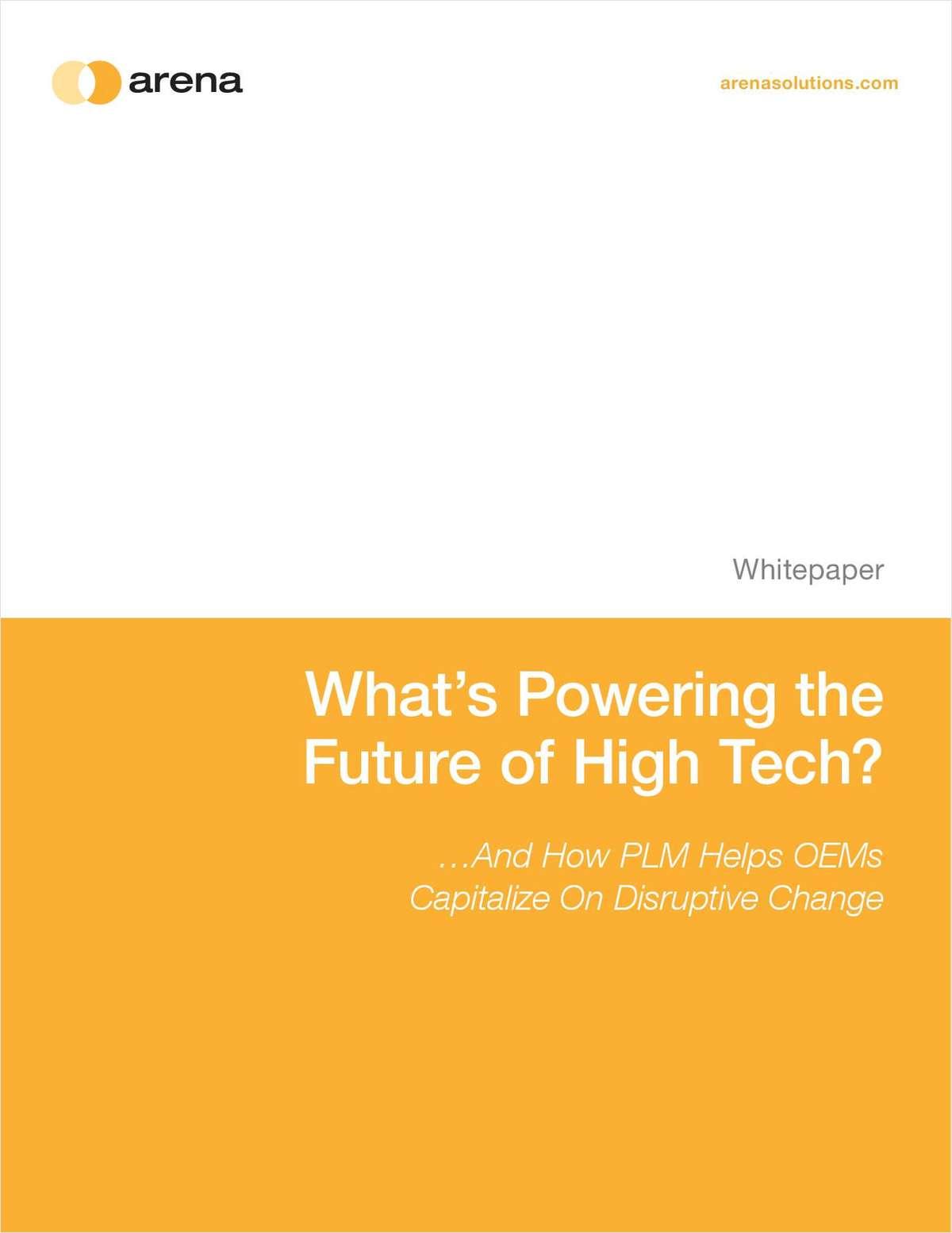 Turn Disruptive Changes Into High Tech's Next Big Thing