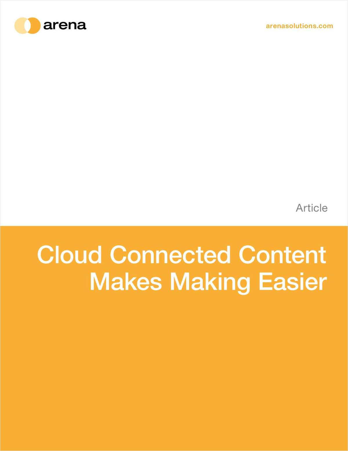 Cloud Connected Content Makes Making Easier