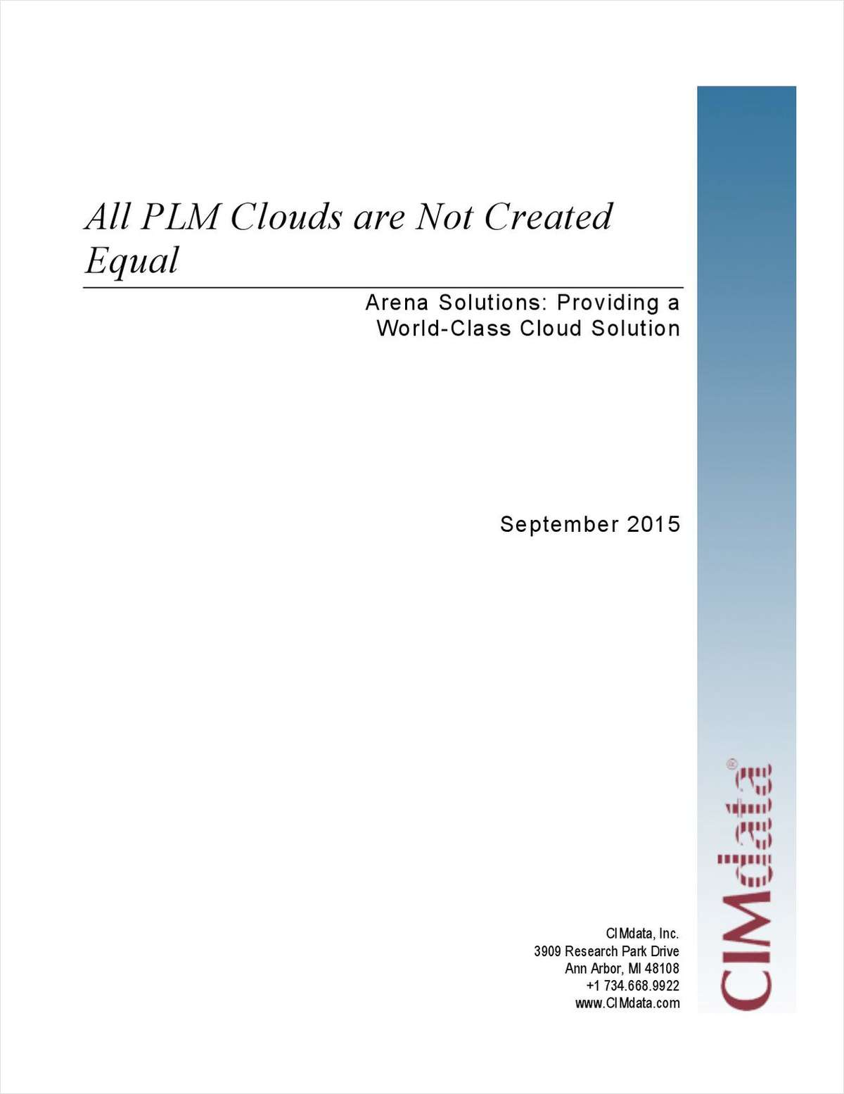 All PLM Clouds are Not Created Equal