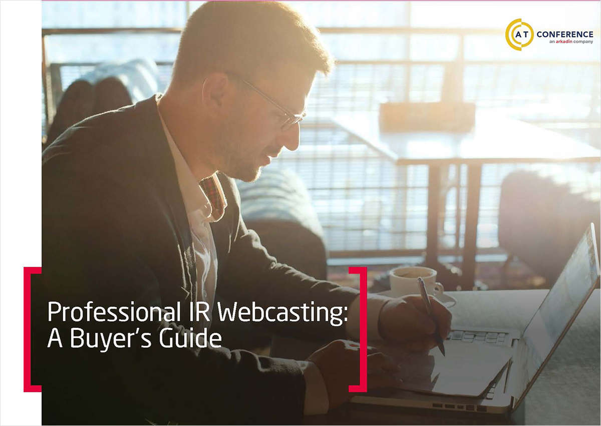 Professional IR Webcasting: A Buyer's Guide