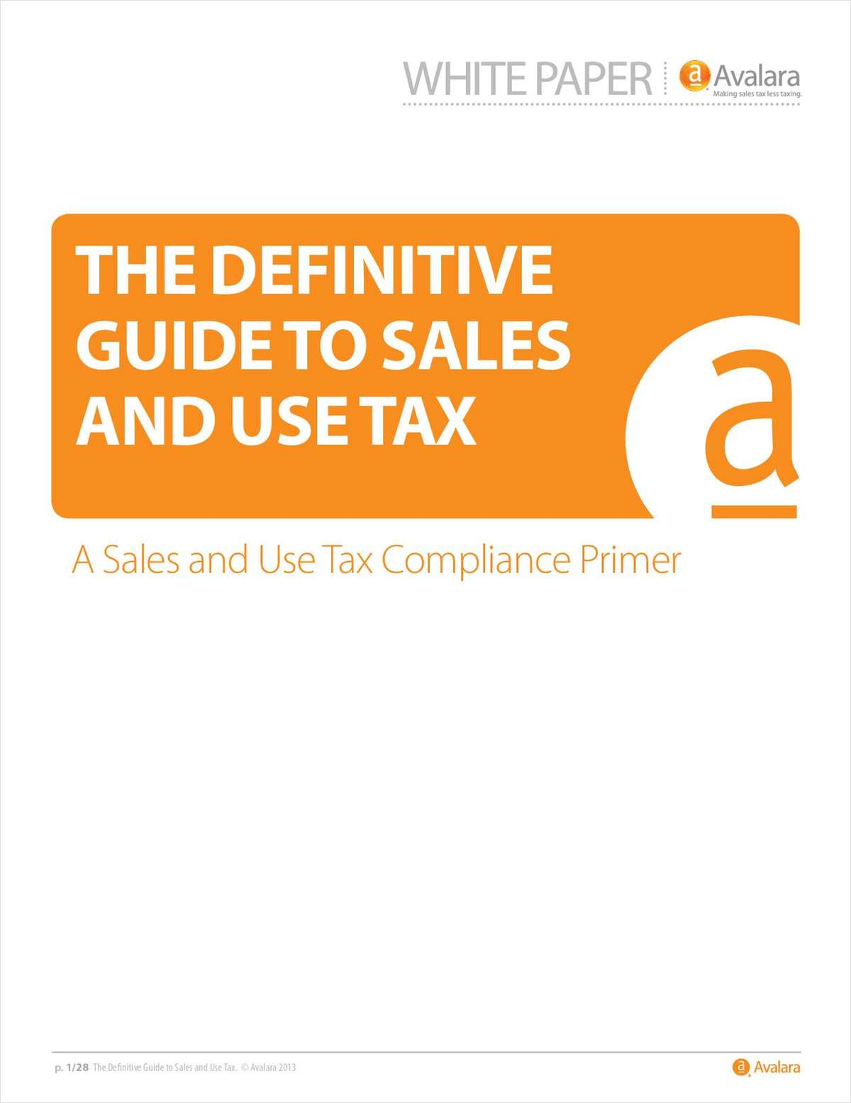 The Definitive Guide to Sales & Use Tax