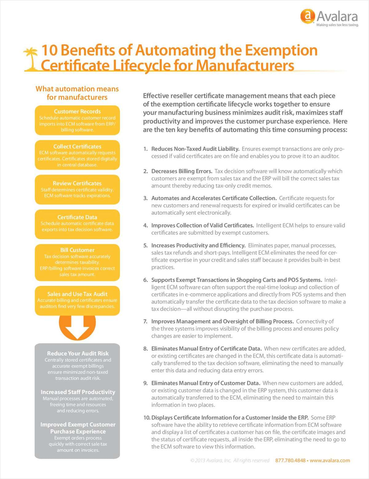 10 Benefits of Automating Exemption Certificates for Manufacturers