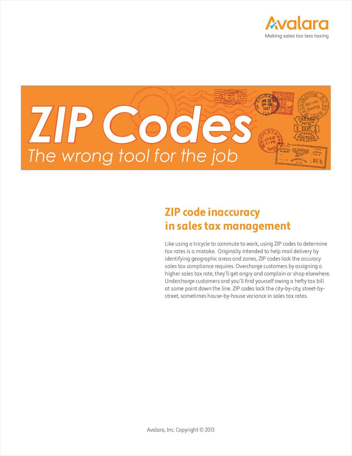 ZIP Codes: The Wrong Tool for Calculating Sales Tax