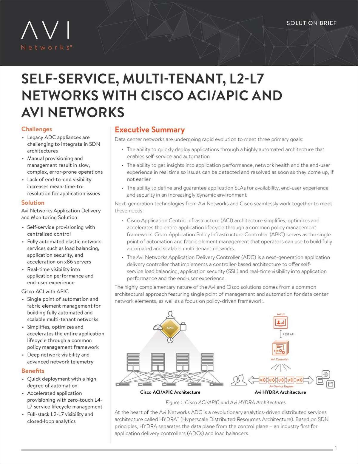 Self-Service, Multi-Tenant, L2-L7 Networks