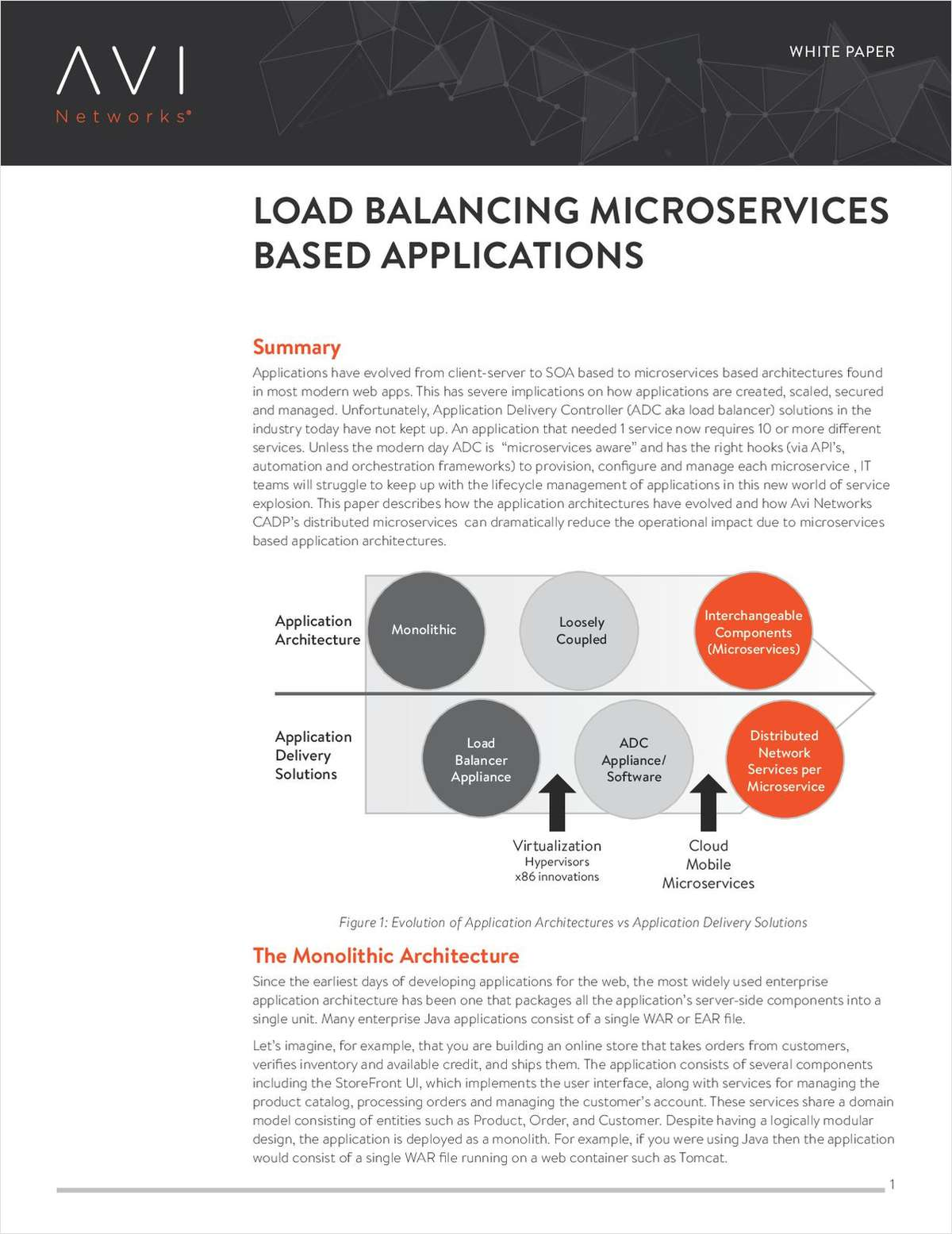 Load Balancing Microservices Based Applications