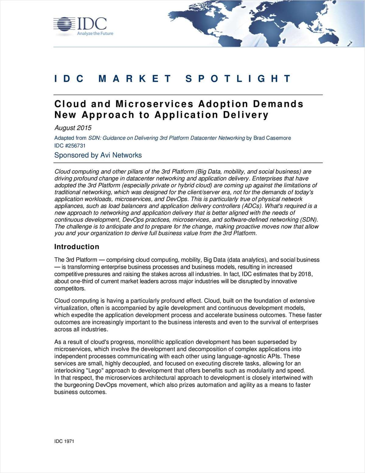 Cloud and Microservices Adoption Demands New Approach to Application Delivery