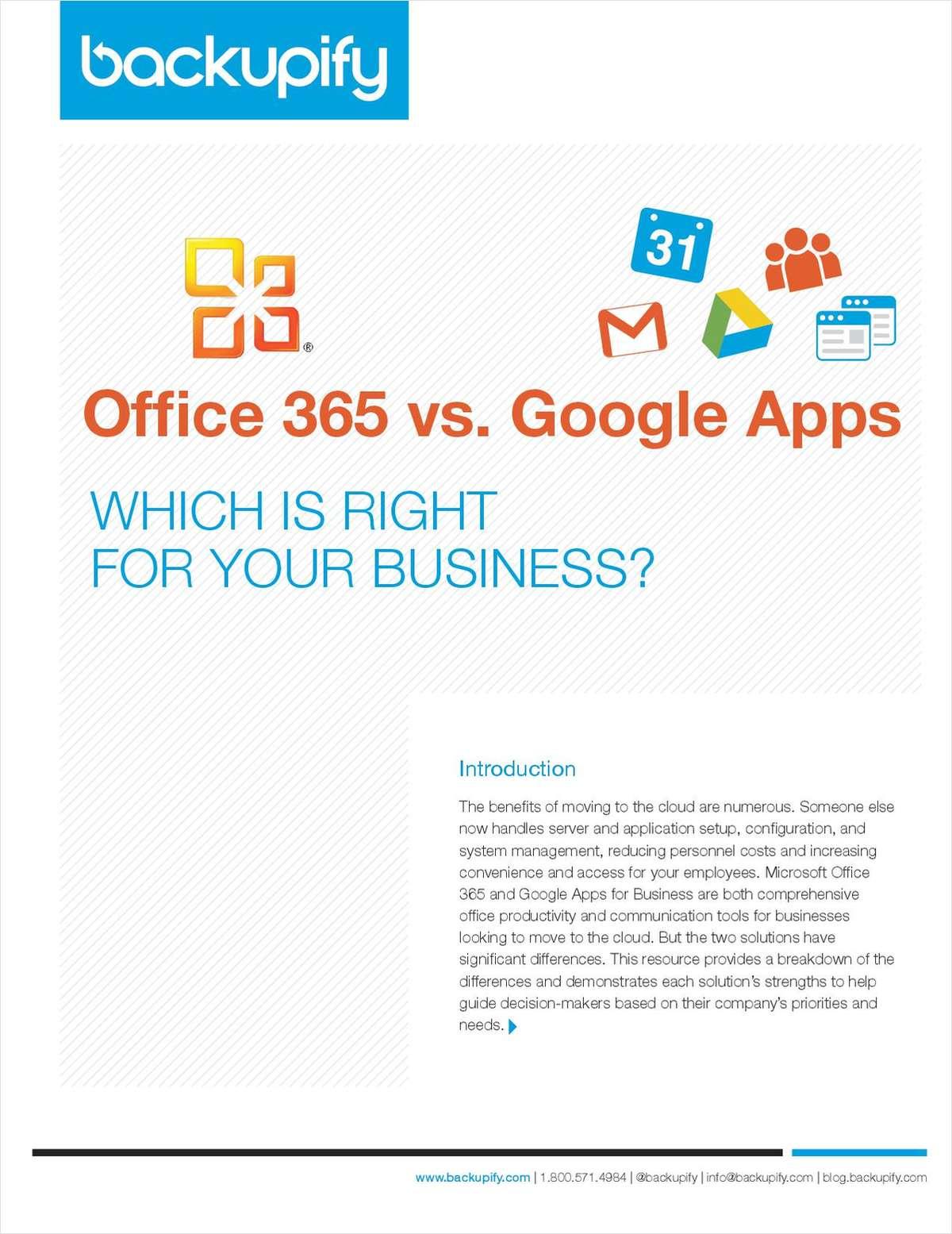 Office 365 vs Google Apps