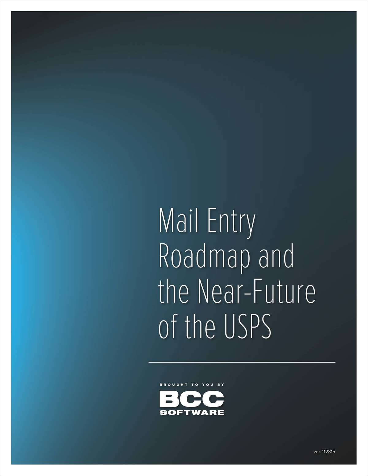 Mail Entry Roadmap and the Near-Future of the USPS