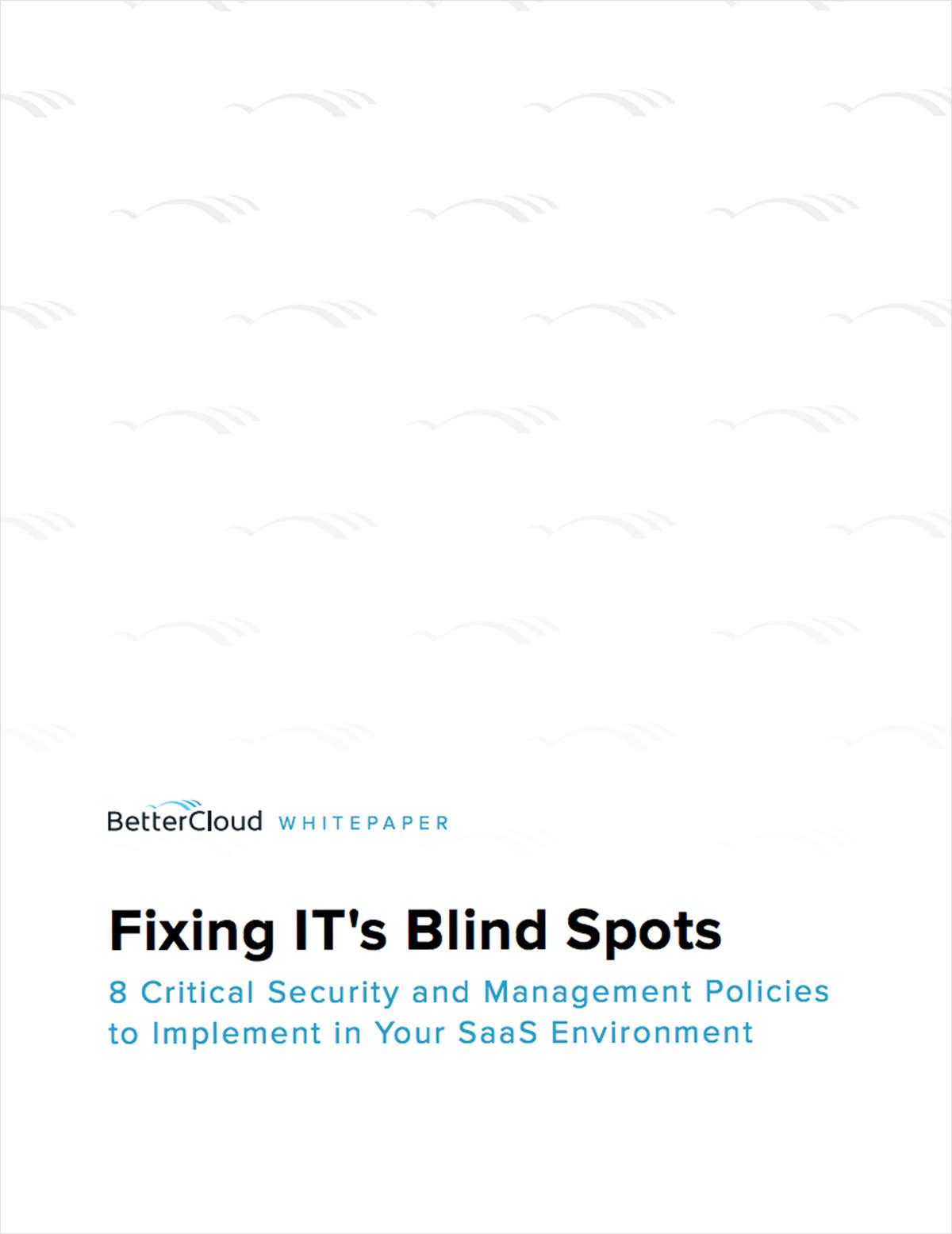 Fixing IT's Blind Spots