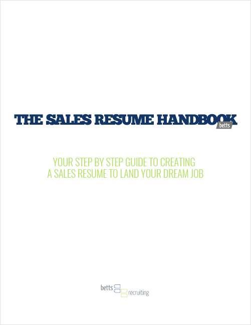The Sales Resume Handbook
